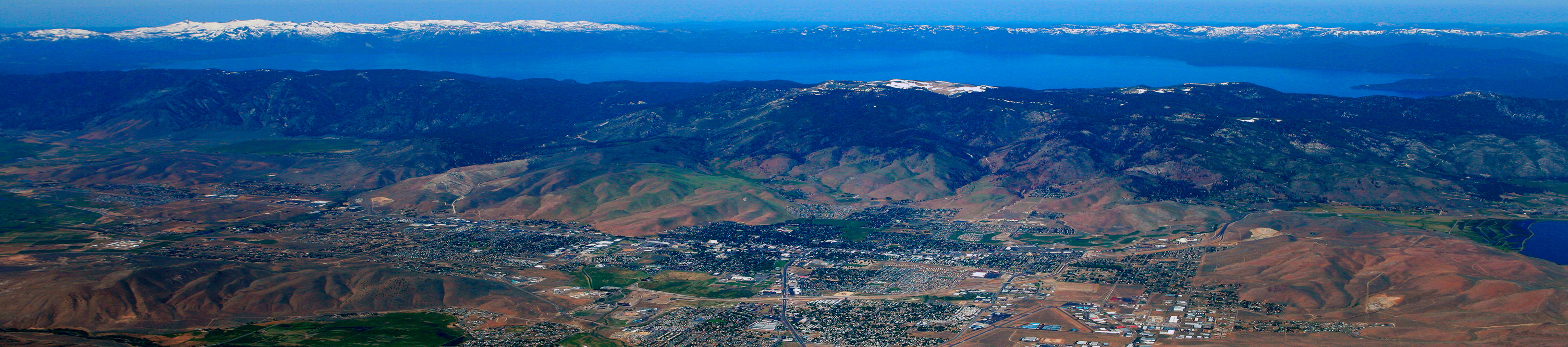 Carson City and Lake Tahoe Aerial