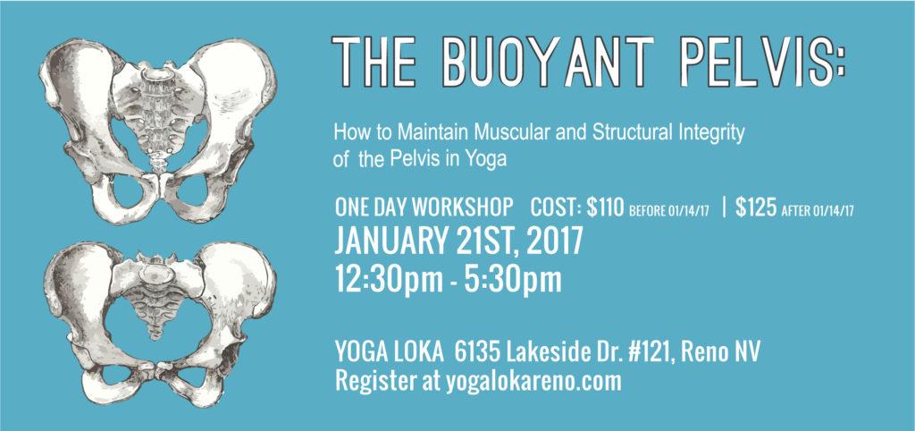 Buoyant Pelvis Workshop in January 2017 at Yoga Loka, Reno